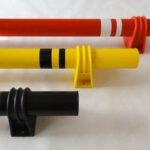 Steel Wheel Stop – Polycarbonate Flange Model